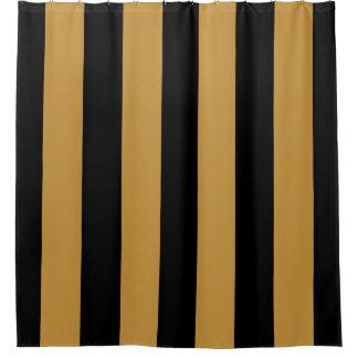 Cortina Para Box Listras verticais corajosas elegantes do preto e