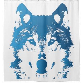 Cortina Para Box Lobo do azul de gelo da ilustração