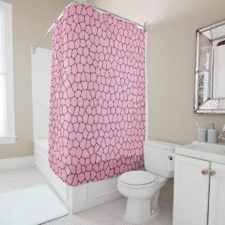 Cortina Para Box Luz - cortina de chá cor-de-rosa do teste padrão