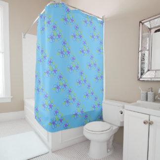 Cortina Para Box Luz - cortina de chá florescida azul