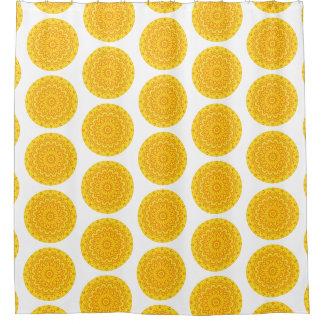Cortina Para Box Mandala redonda amarela alegre (impressão do Lg)