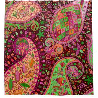Cortina Para Box Mão retro Boho colorido da paz do hippy