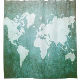 Cortina Para Box Mapa do mundo do design 55