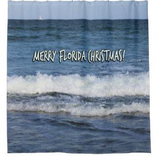 Cortina Para Box Natal alegre de Florida sobre o oceano
