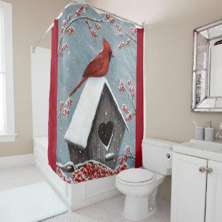 Cortina Para Box Neve cardinal do norte do inverno