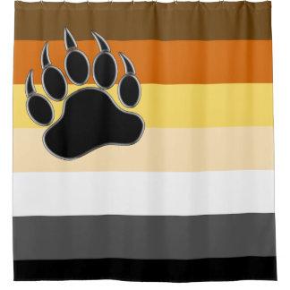 Cortina Para Box O gay carrega a bandeira do orgulho e a pata de