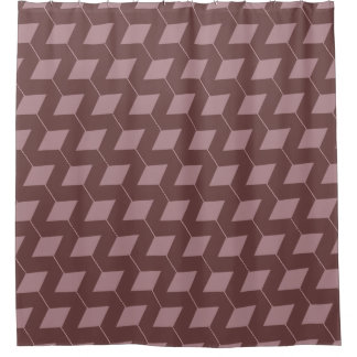 Cortina Para Box Os quadrados/empoeirado geométricos aumentaram