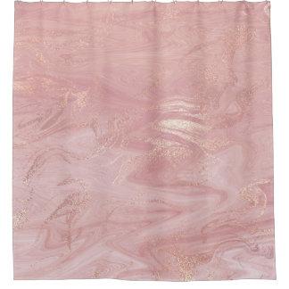 Cortina Para Box Ouro derretido de pedra de mármore do rosa do rosa