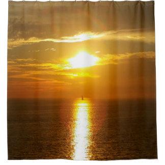 Cortina Para Box Ouro do por do sol do oceano