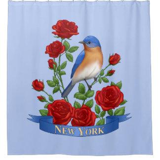 Cortina Para Box Pássaro e flor de Estados de Nova Iorque