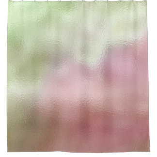 Cortina Para Box Pastel de vidro do rosa do verde da hortelã da