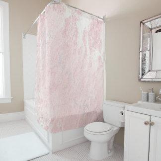 Cortina Para Box Pastel derretido de pedra de mármore do rosa do
