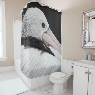 Cortina Para Box Pelicano branco cor-de-rosa preto