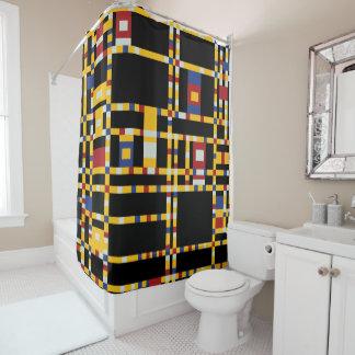 Cortina Para Box Piet Mondrian - arte moderna de Woogie da dança de
