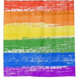 CORTINA PARA BOX PINTURA DA BANDEIRA DO ARCO-ÍRIS DE LGBT