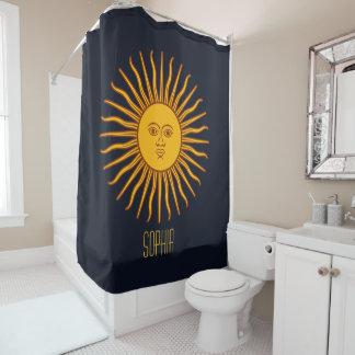 Cortina Para Box Planeta amarelo da astrologia de Sun seu nome azul