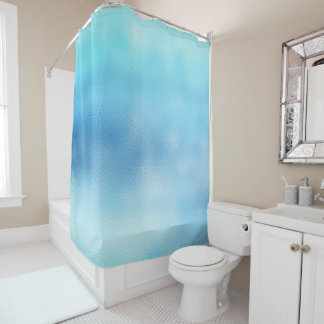 Cortina Para Box Praia de vidro abstrata mínima do Aqua do oceano