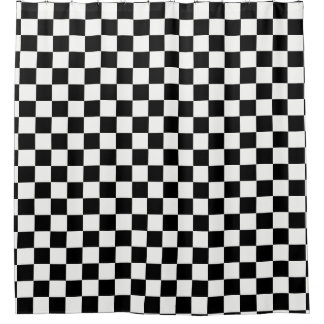 Cortina Para Box Preto e branco Checkered