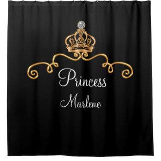 Cortina Para Box Princesa real elegante Monograma Estilo