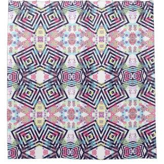 Cortina Para Box quadrados coloridos