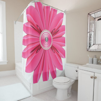 Cortina Para Box showercurtain cor-de-rosa da flor