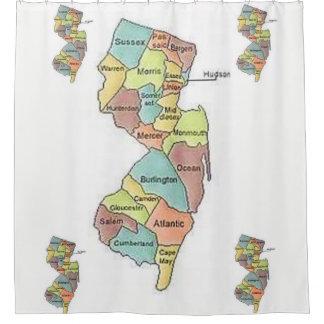 Cortina Para Box Showercurtain do branco dos condados do mapa de