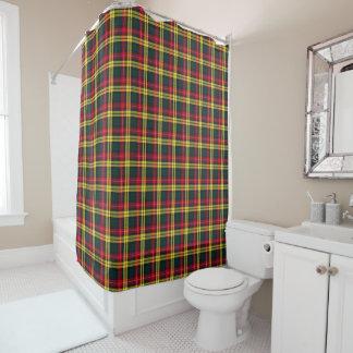 Cortina Para Box Tartan amarelo, verde e vermelho do clã de