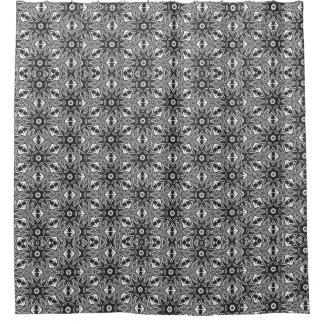 Cortina Para Box Teste padrão branco preto abstrato retro