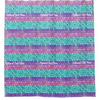Cortina Para Box Teste padrão brilhante dos azulejos de mosaico -