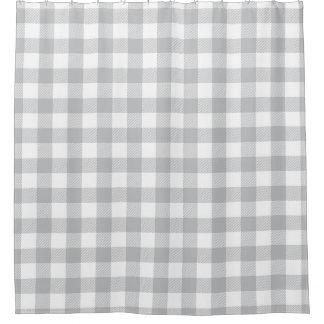 Cortina Para Box Teste padrão Checkered da xadrez cinzenta do
