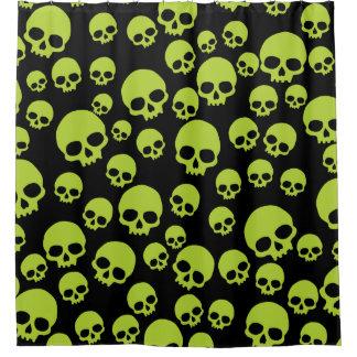 Cortina Para Box Teste padrão verde aleatório dos crânios