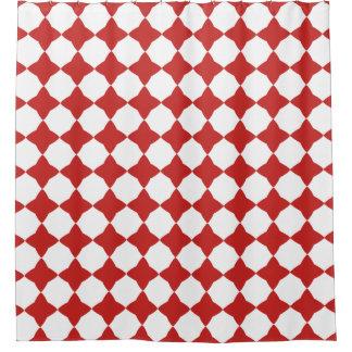 Cortina Para Box Teste padrão vermelho & branco