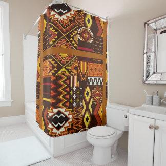 Cortina Para Box Tons   da terra e abstrato africanos art.