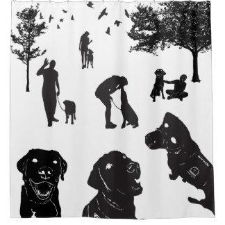 Cortina Para Box Variação 1 do amor do cão do serviço da cortina de