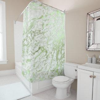 Cortina Para Box Verde branco da hortelã de Carrara do abstrato de