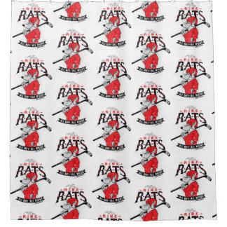 Cortina Para Box Vermelho do hóquei dos ratos da pista