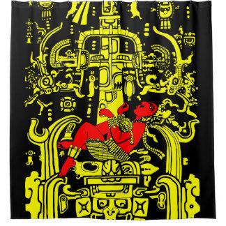 Cortina Para Box Versão amarela & vermelha do astronauta antigo -