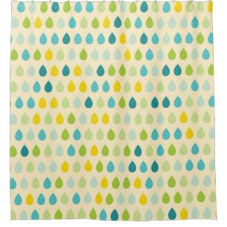 Cortina Para Chuveiro A chuva colorida feliz deixa cair a cortina de chá