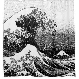 Cortina Para Chuveiro A grande onda fora de Kanagawa (神奈川沖浪裏)