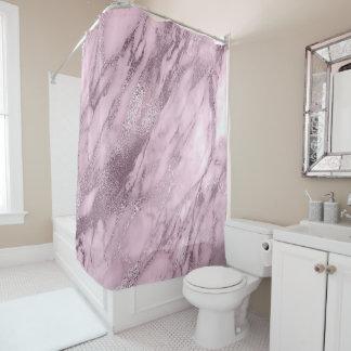 Cortina Para Chuveiro Abstrato de mármore malva da pedra do Lilac de