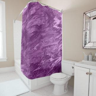 Cortina Para Chuveiro Abstrato derretido do mármore do metal Amethyst
