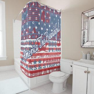 Cortina Para Chuveiro América Dia da Independência o 4 de julho bonito
