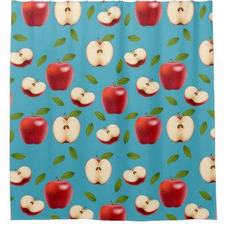 Cortina Para Chuveiro Apple vermelho modela