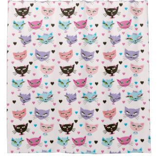 Cortina Para Chuveiro Aqui cortina de chá do gatinho do gatinho