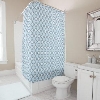 Cortina Para Chuveiro Argyle/cortina chá azul do diamante
