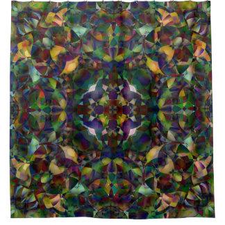 Cortina Para Chuveiro Arte abstracta colorida, Kaleidoscopic
