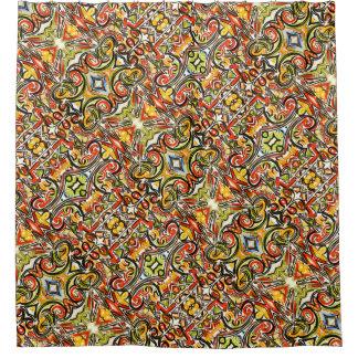 Cortina Para Chuveiro Arte abstracta pintada Borboleta-Mão emergente