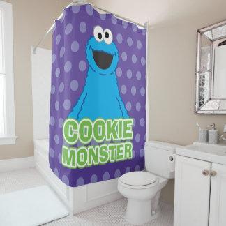 Cortina Para Chuveiro Arte do caráter do monstro do biscoito