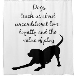 Cortina Para Chuveiro Arte do logotipo do cão de guia do espírito animal