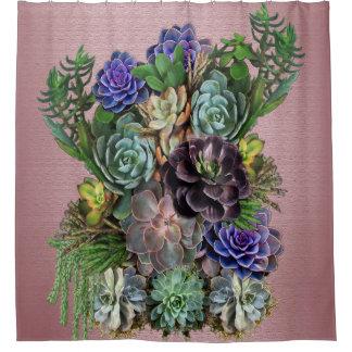 Cortina Para Chuveiro Arte do Succulent